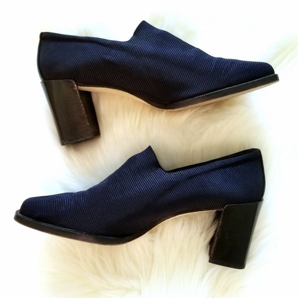 Donald J. Pliner Shoes - Donald J Pliner Navy Square Block Heels